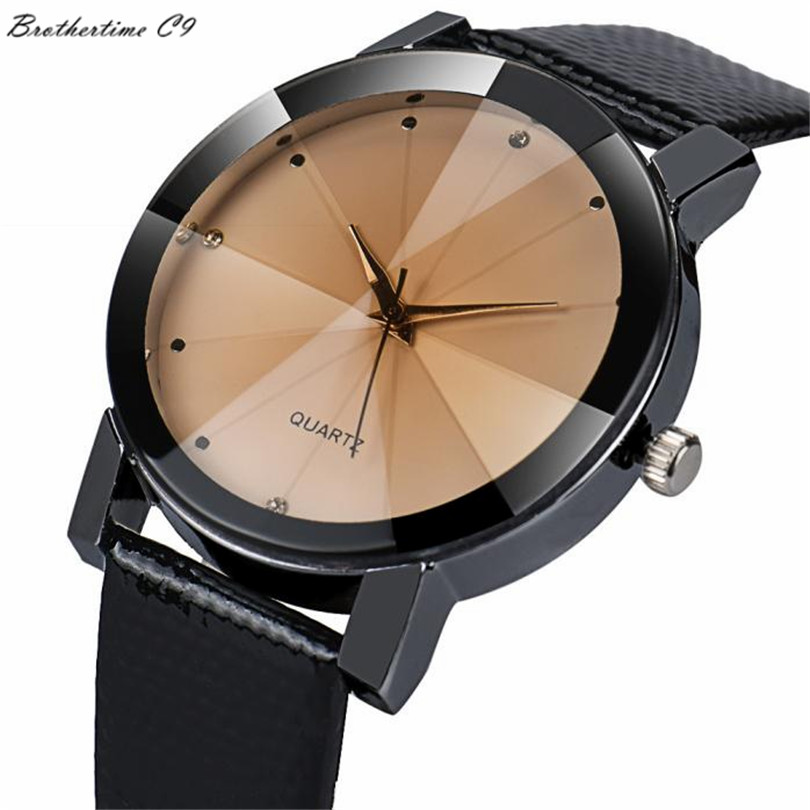 Luxury brand Unisex watch men popular womens watches fashion Quartz Stainless Steel Dial Leather Band Wrist Watch Sport casual fashion noctilucent wrist watch modern desgin sport men circle round dial quartz watches stainless steel band strap males reloj