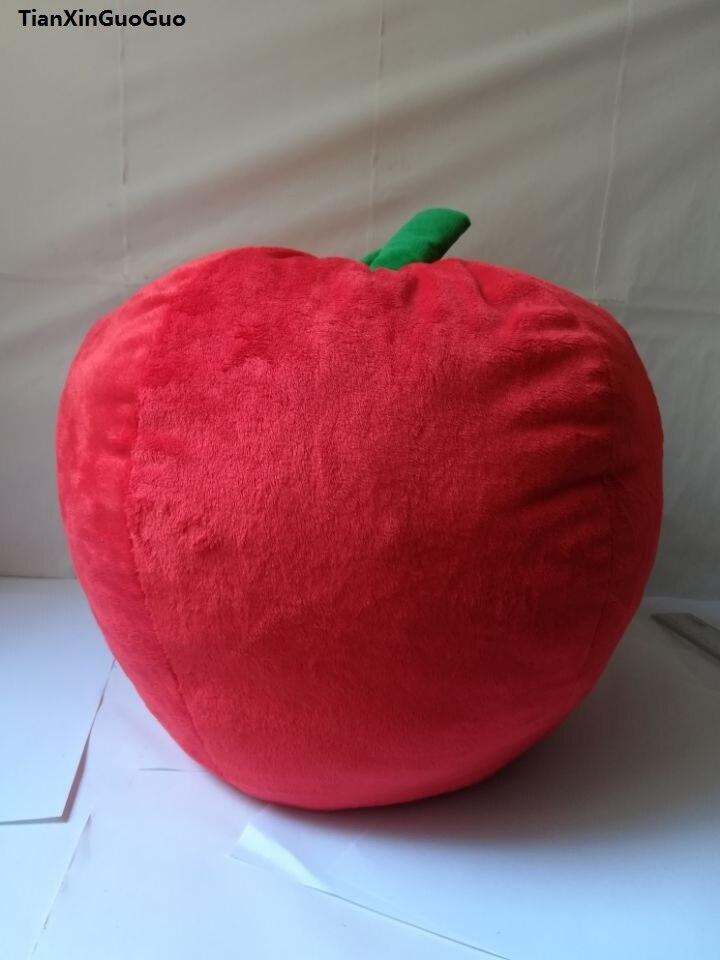 Mignon jouet créatif grand 40x38 cm mignon pomme rouge en peluche jouet doux jeter oreiller cadeau de noël w0112
