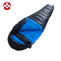 AEGISMAX Ultralight Thicken Mummy Sleeping Bag White Duck Down Sleeping Bag Winter Portable Outdoor Camping Hiking