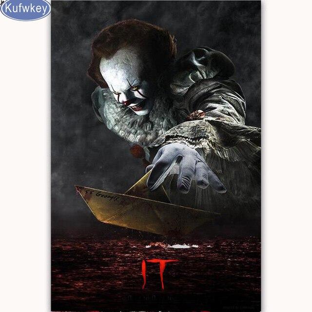 5d Diy Diamond Paintings Cross Stitch Kits Horror Movie Halloween