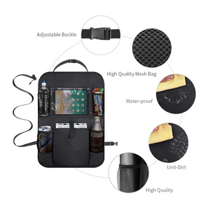 Image 5 - LCAV Car Seat Back Storage Organizer Cover Protector Hang Bag Bottle Facial Tissue Holder Oxford Waterproof Auto Stowing Tidying