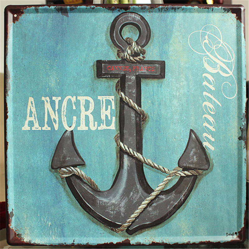 Nautical Home Decor Vintage Plaques Iron Painting Metal Tin Signs Wall Art Decoration Ly749107 1