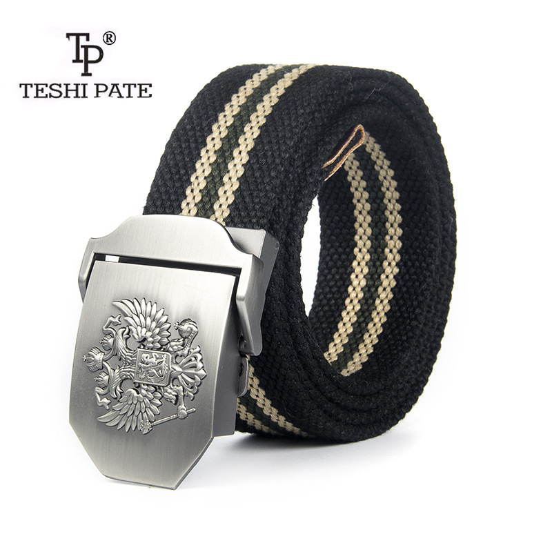 TESHI PATE 2018 The New Thicker Outdoor belt dedicated Canvas belt Men Belt Popular