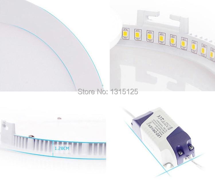40PC / LOT Ulthra жұқа 24W жарық диодты - LED Жарықтандыру - фото 6