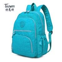 TEGAOTE School Backpack For Teenage Girl Mochila Feminina Women Backpacks Nylon Waterproof Casual Laptop Backpack Female
