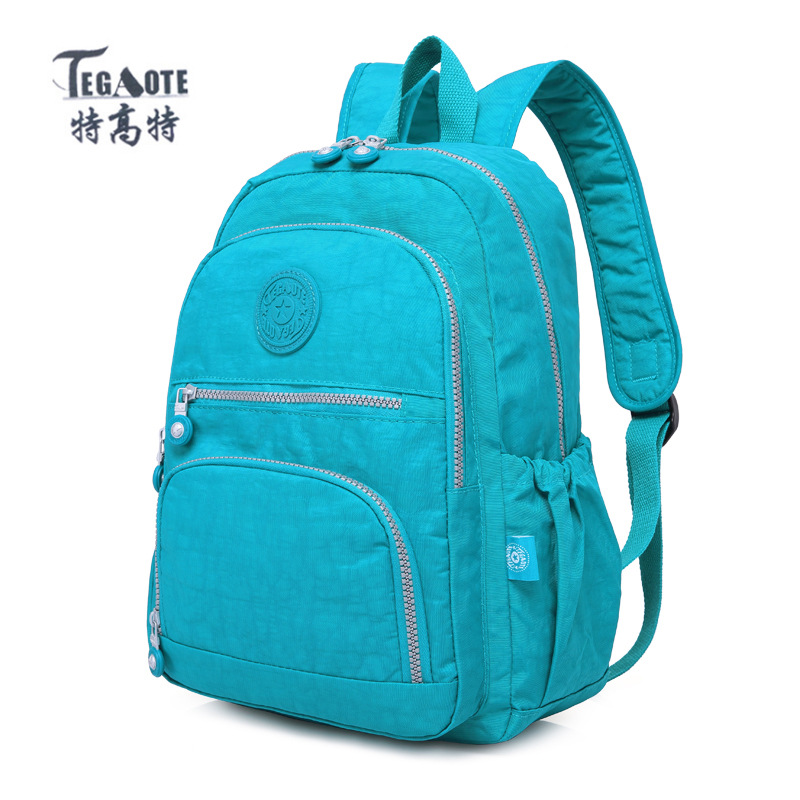 TEGAOTE School Backpack for Teenage Girl Mochila Feminina Women Backpacks Nylon Waterproof Casual Laptop Backpack Female tegaote nylon waterproof school backpack for girls feminina mochila mujer backpack female casual multifunction women laptop bag
