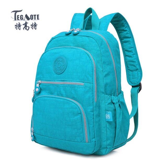 TEGAOTE School Backpack for Teenage Girl Mochila Feminina Women Backpacks  Nylon Waterproof Casual Laptop Backpack Female e3d8d7f028