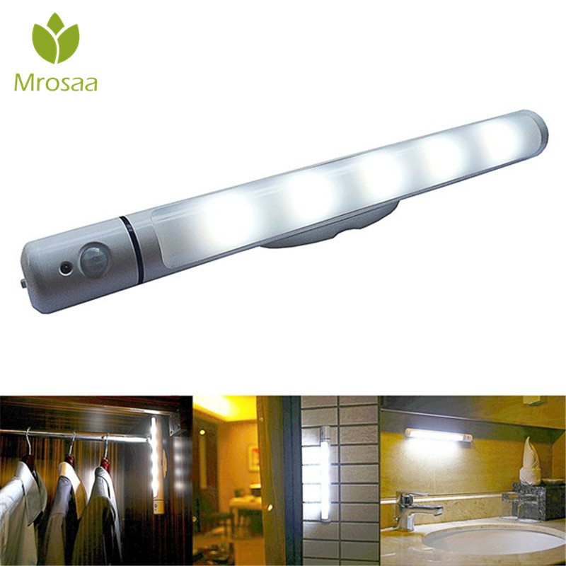 Mrosaa Night Lights 1W LED Infrared Human Body PIR & Light Sensor Wall Lamp Bedroom Hallway Cupboard Stairwells Closet Led Light icoco 1pcs 6 leds intelligent pir infrared human body induction lamp motion sensor night light for bedroom closet canbinet new