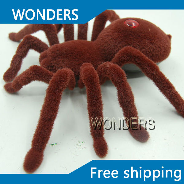 New Halloween Simulation Remote Control 11 2CH Infrared Realistic RC Spider Toy Prank Gift Free Shipping