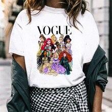 FIXSYS VOGUE модная женская футболка классная футболка с принтом принцессы забавная Harajuku с коротким рукавом милые топы женские футболки