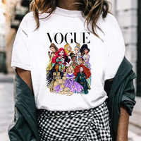 FIXSYS VOGUE Fashion Women T-Shirt Cool Princess Printed T Shirt Funny Harajuku Short Sleeve lovely tops Female Shirts