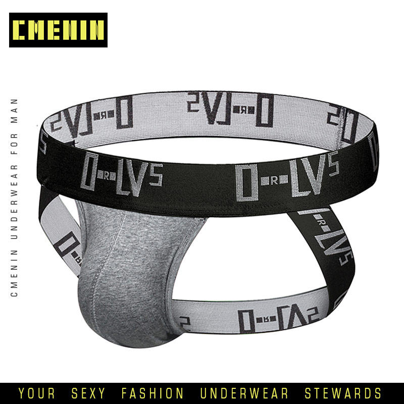 2019 Men Underwear Jockstrap Sexy Thong Men String Homme Cotton Sissy Panties Lingerie G String Gay Underwear Penis Pouch OR211