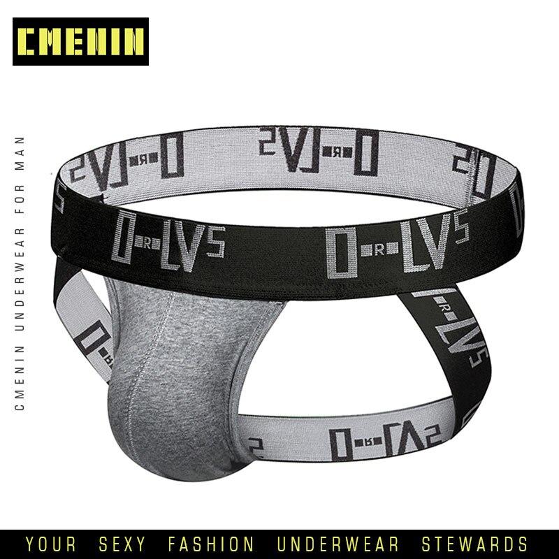 2019 Men Underwear Jockstrap Sexy Thong Men String Homme Cotton Sissy Panties Lingerie G String Gay Underwear Penis Pouch OR211