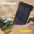Солнечная Энергия Банк Dual USB Power Bank 10000 мАч водонепроницаемый powerbank bateria внешний Портативный Солнечные Панели со СВЕТОДИОДНОЙ подсветкой