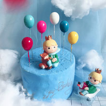 6PCS color foam balloon jewelry birthday cake decoration cake cap special children birthday / wedding party(China)