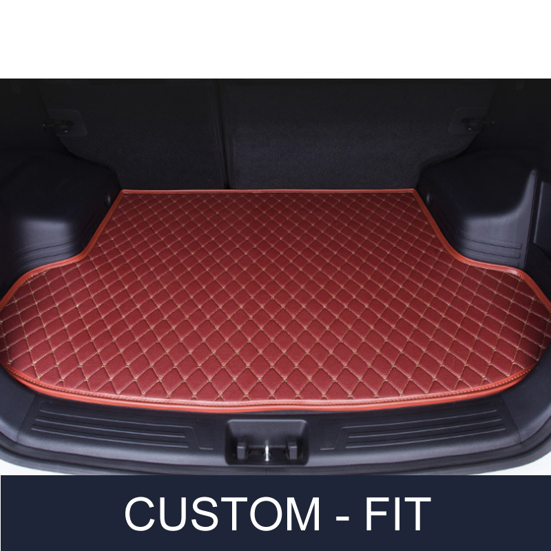 Custom fit car trunk mat for Volkswagen Beetle CC Eos Golf Jetta Passat Tiguan Touareg 3D car-styling tray carpet cargo liner custom fit car trunk mat for nissan altima rouge x trail murano sylphy versa tiida 3d car styling tray carpet cargo liner