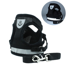 HELLOMOON Nylon New dog leash vest pet chest strap reflective rope harnesses