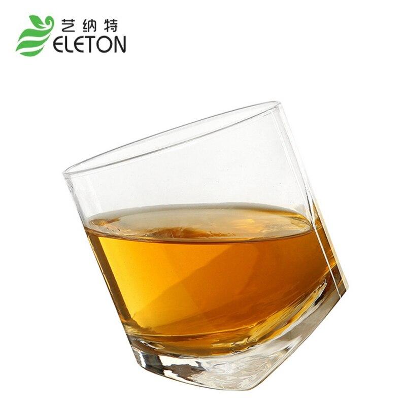 ELETON Crystal transparent glass whisky cup 300ml brandy snifters bar set Tumbler Glass Wine Mug Beer Glasses gift