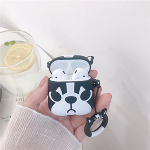 Image 4 - For AirPods Case Cute Cartoon Dog Earphone Cases For Apple Airpods 2 Cover Funda with Finger Ring Strap
