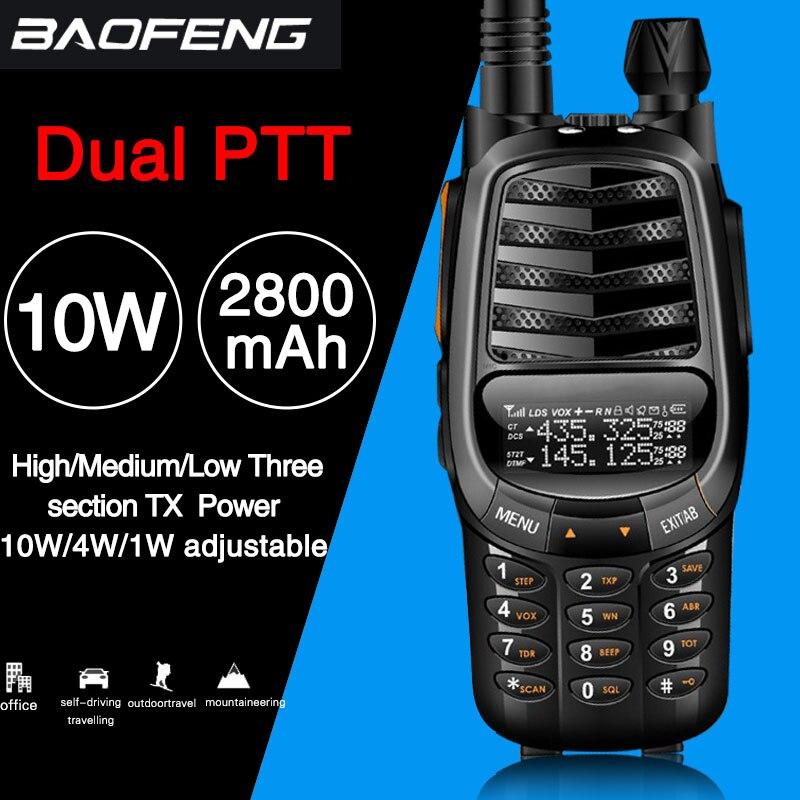 2019 Baofeng UV-X9 Plus 10 watts puissant Talkie Walkie Puissant radio portable VHF/UHF 10 km mis à jour de uv-82 uv82 CB Ham Radio