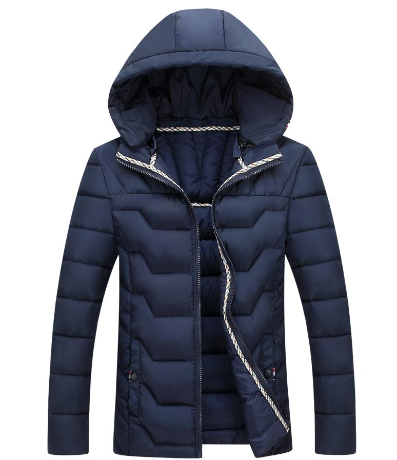 New Men's Down Cotton Clothes For Men's Light And Light Breathable 2017 Winter Youth Fashion Big Size Cotton Jacket