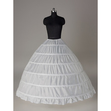 2016 White Ball Gown Wedding Dress Petticoats For Vintage Dresses 6 Hoops Bridal Crinoline Petticoat Crinoline