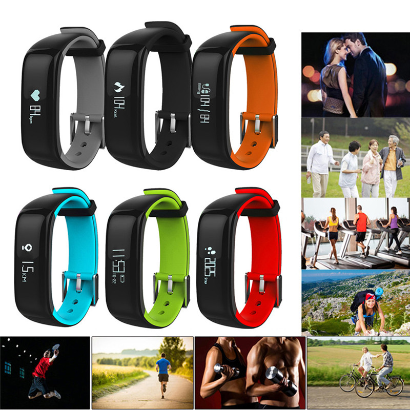 Bluetooth Smart Watch Wristband Bracelet Pedometer Sport Fitness Heart Rate Monitor Waterproof for IOS Android Wholesale