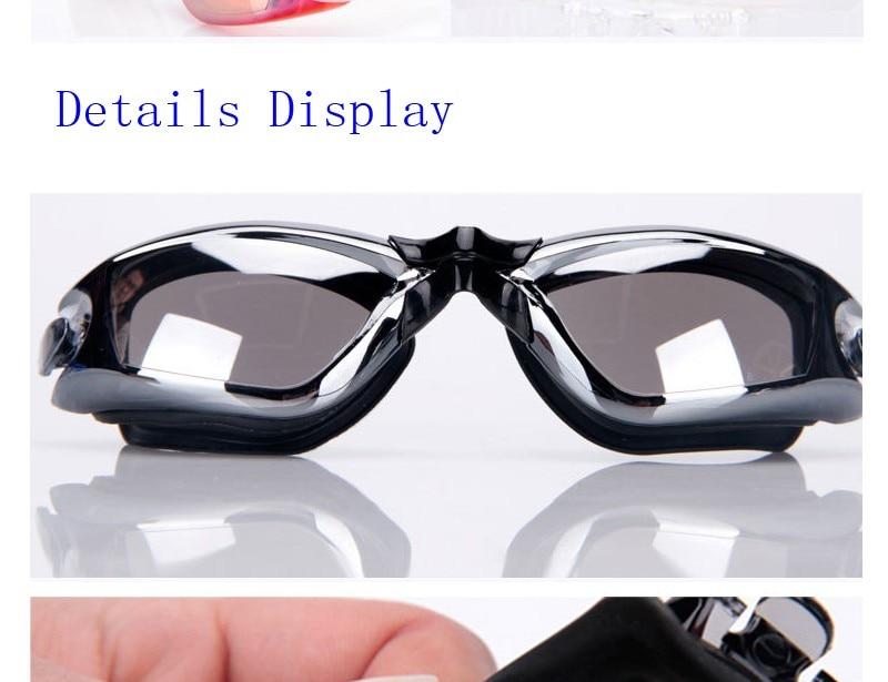 Silicone Professional Myopia Swimming Goggles With Earplug Anti Fog For Men And Women 6
