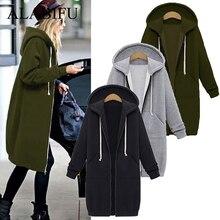 Autumn Winter Casual bts Hoodie Zipper Long Coat Sweatshirt Women Plus Size 5XL