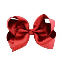 цена на 24pcs  Free Shipping 4 Inch Hair Bows For Girls Shiny Boutique Bows Alligator Clips For Teens