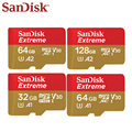 SanDisk Extreme 32GB 64GB A1 TF Card Memory Card High Speed 100MB/S 64GB 128GB A2 V30 Micro SD Card Support Video For Phone