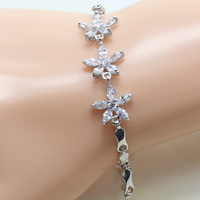 J047A Wholesale And Retail White Gold Cubic Zirconia Stone Underpinning Main Charm Bracelet 925 Women