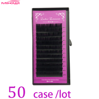 MIKIWI 50cases set 12rows D curl mink eyelash extension fake eyelashes maquiagem cil individual eyelashes premium mink lashes