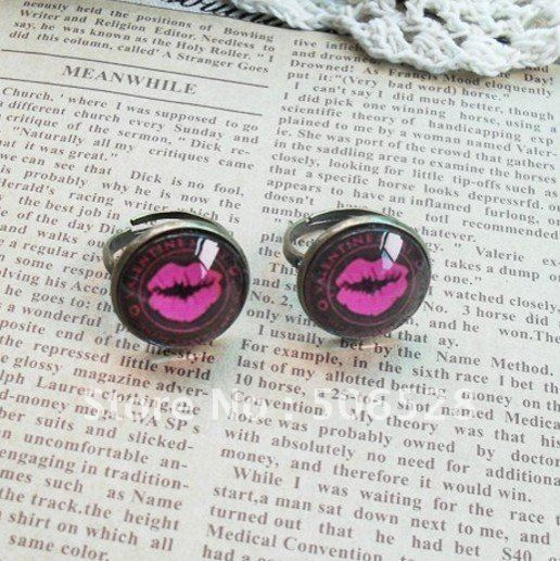 Free Shipping 100% Handmade Rings; Valentine Rings; Love Rings; 2PCS/Lot