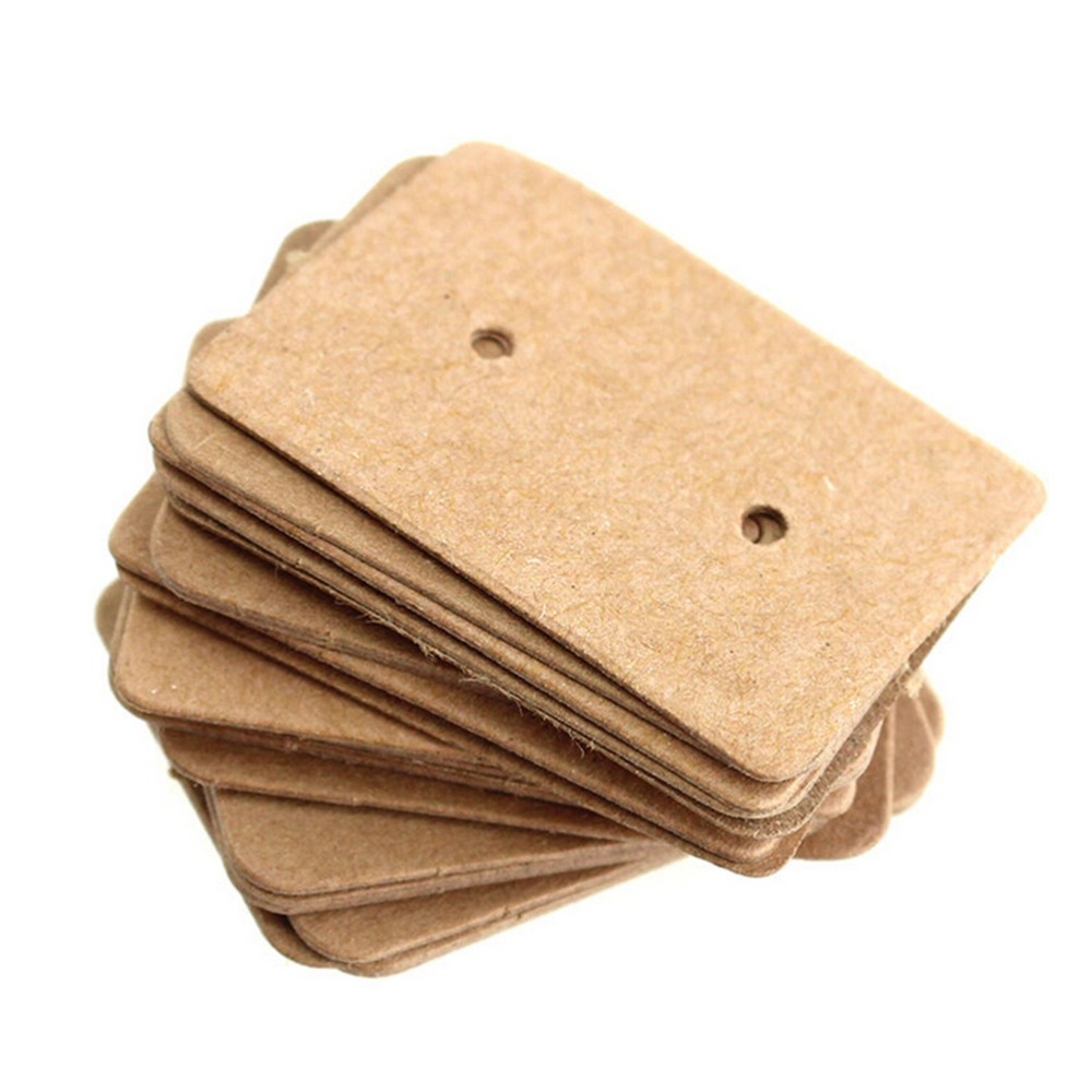 100 Pcs/Lot Kraft Paper Tag Packaging Label Luggage Party Wedding Note DIY Blank Card Price Gift Hang Tag Paper Label