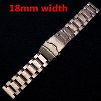 18mm Rose Goldene Edelstahl Armband Armbanduhr Band Faltschließe Armband Neue Band Für Stunden GD015918