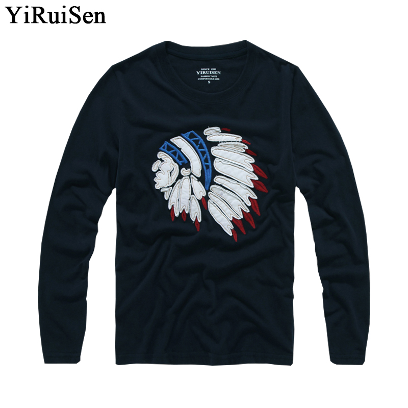 Mens t shirts fashion 2017 long sleeve t shirt men for Mens 100 cotton t shirts