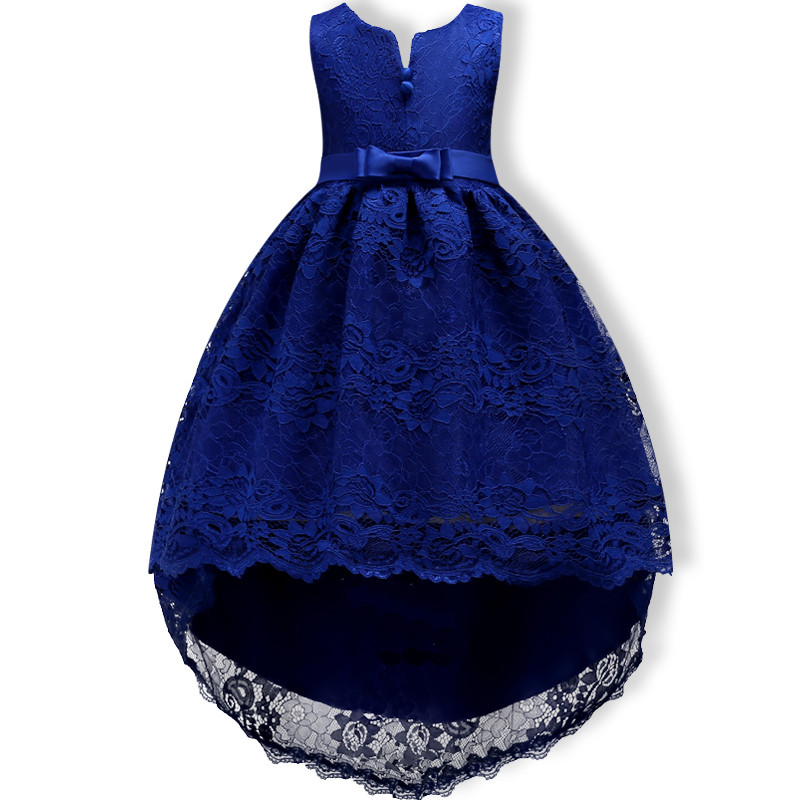 Kids Party Dress of Girl Toddler Children Embroidery Trailing Dress floral girl dress Baby Girl clothes Princess Dress 2-14 Year