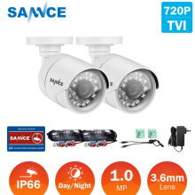 SANNCE IP Camera  Surveillance Security kits 2PCS AHD 720P 1200TVL Security Camera System Outdoor IR Night Vision 1MP CCTV Home