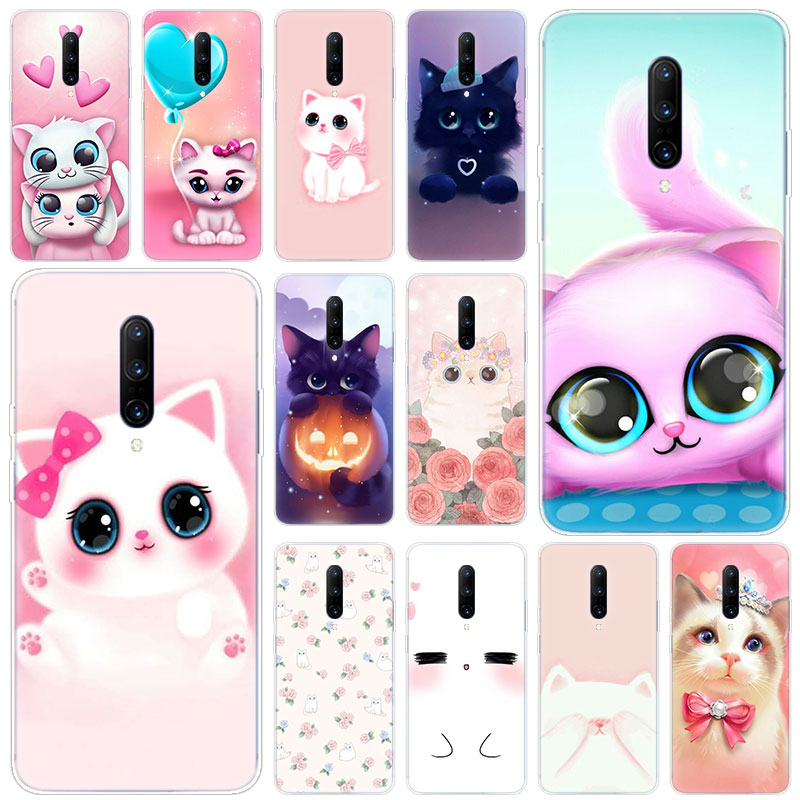 Hot Cartoon Cute Cats Soft Silicone Fashion Transparent Case For font b OnePlus b font font