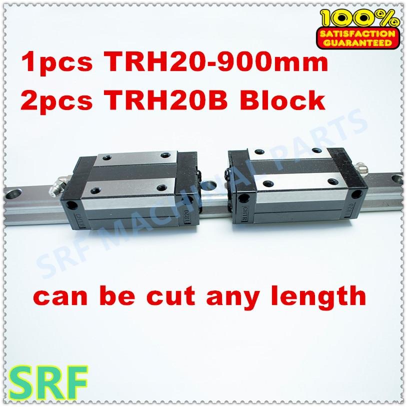 High Precision 1pcs Linear guide 20mm TRH20  L=900mm Linear Rail+2pcs TRH20B Slider block for cnc high precision 1pcs linear guide 20mm trh20 l 1000mm linear rail 2pcs trh20b slider block bearing linear guide rail for cnc