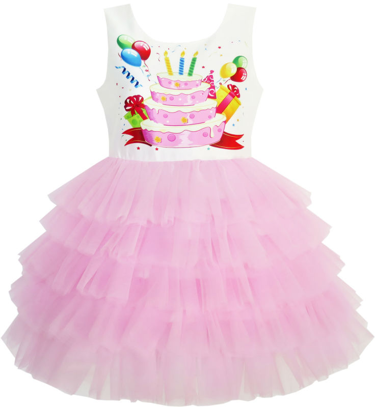 Sunny Fashion Girls Dress Birthday Princess Ruffle Dress