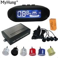 Car Parking Sensor LCD Display Monitor Rearview Car Parking Assistance Backup Radar System 4 Sensors Reverse