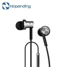 Original xiaomi mi iv hybrid control de auriculares con cable con el mic para Android iOS para el teléfono celular Para MI4 MI3 Redmi-plata