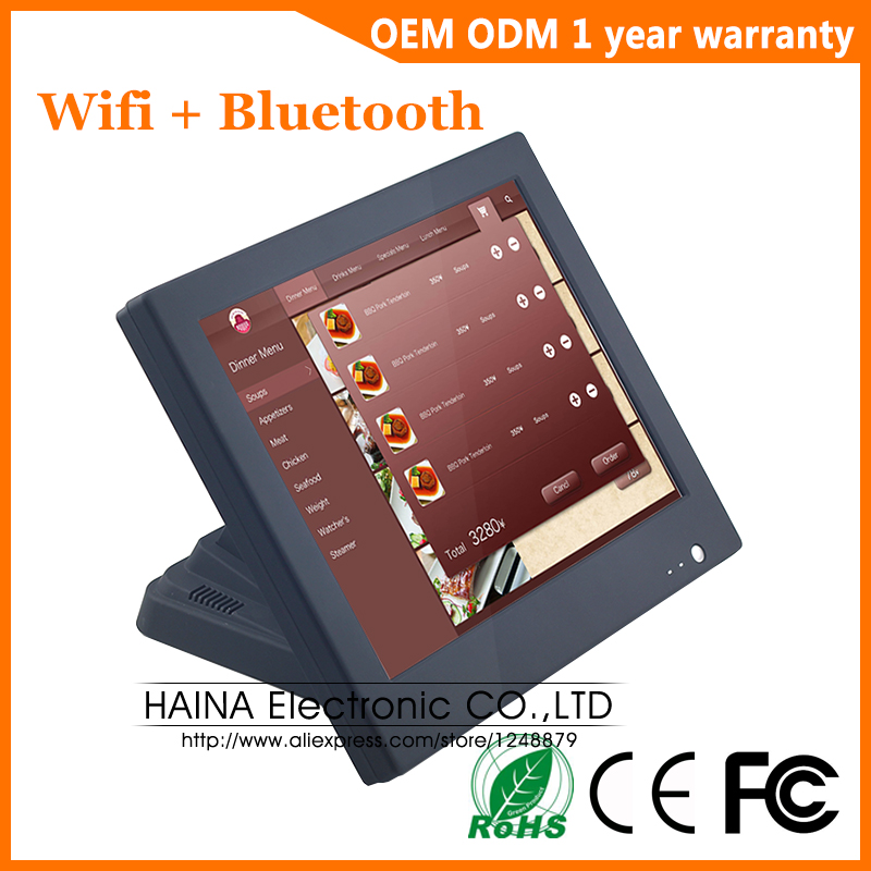 15 inch Wifi Bluetooth Touch Screen POS System All in one Desktop Computer For Sale-in LCD Monitors from Computer & Office
