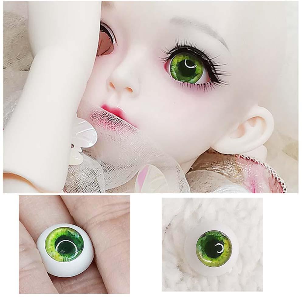 New Nice 12MM Green Glass Eyes for  DOD DZ AOD Volks Luts MSD BJD Doll