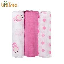 3Pcs Set 70 70cm Muslin Cloth Cotton Newborn Baby Swaddles Baby Blankets Double Layer Gauze Bath