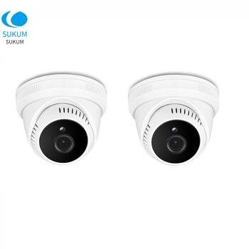 2Pcs 5MP Dome Mini Camera AHD 3.6mm Lens Plastic Casing IR Night Vision Home Security Video Analog Camera