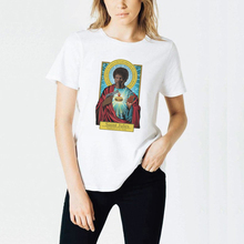 Fashion Women Clothes Funny t shirt Saint Mia Jules Spoof Personality Quentin Tarantino Pulp Fiction Printed Tshirt Woman Tops