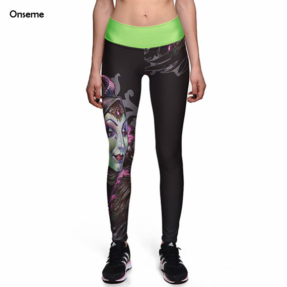 Onseme 2017 New Arrival Leggings Bright Queen High Waist Legging font b Women s b font